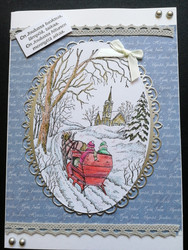 Sleigh Christmas card