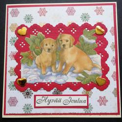Dogs Christmas card