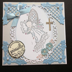 Baby card little prince with cross