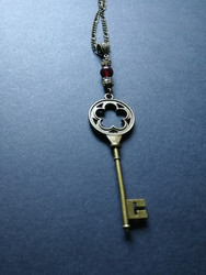 Key necklace with beads