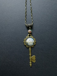 Key necklace with castle