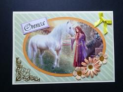 Unicorn and maid card