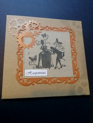 Steampunk wedding card