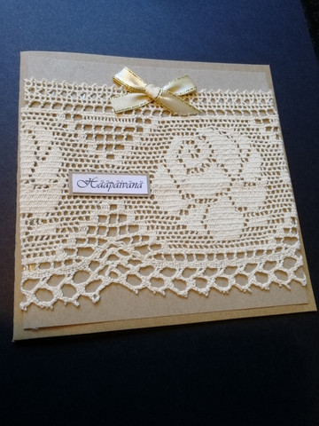 Old lace wedding card