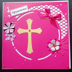 Pink confirmation card