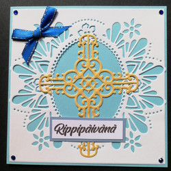 Light blue confirmation card with cross