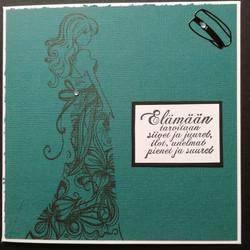Turquoise Graduate card