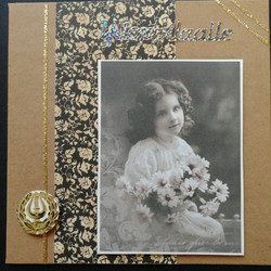 Graduate card antiquated girl