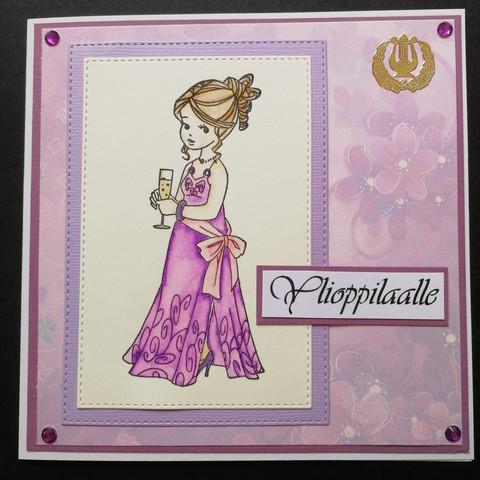 Lilac girl Graduate card