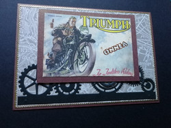 Motorcycle Triump card