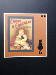 Cacao and cat card