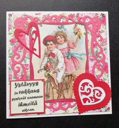 Valentine's day card cycling