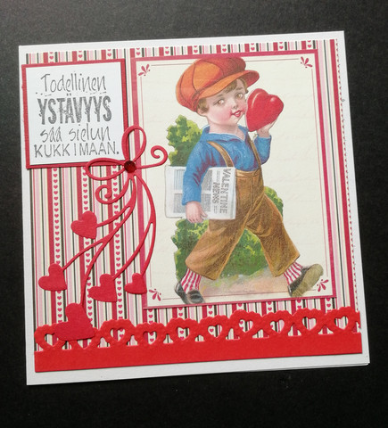 Paper boy Valentine's day card