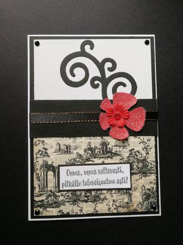 Musta punainen kukkakortti
