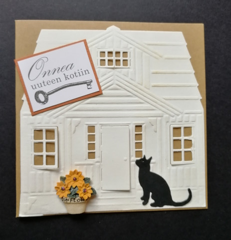 Housewarming card with a cat