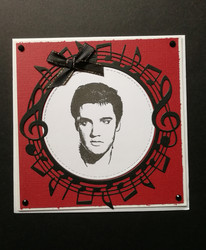 Card with Elvis and notes
