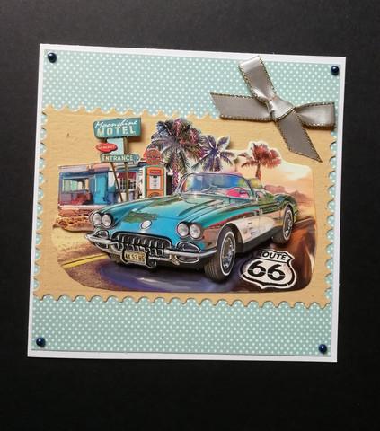Blue car card