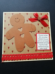 Ginger bread man Christmas card