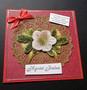 Punainen kukka joulukortti