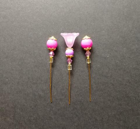 Pink marker pins