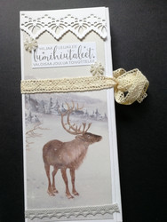 Reindeer chocolate bar card