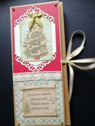 Christmas tree chocolate bar card