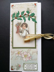 Boy and sock chocolate bar card