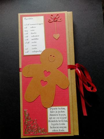 Gingerbread boy chocolate bar card