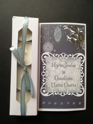 Candle card wishing a Happy New Year
