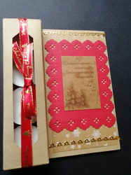 Candle card with song lyrics