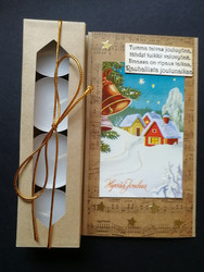 Candle card with Christmas scenery