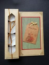 Kynttiläkortti nalle iloista joulua
