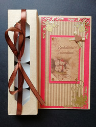 Christmas candle card with Teddies