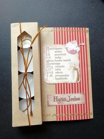 Christmas candle card porridge recipe