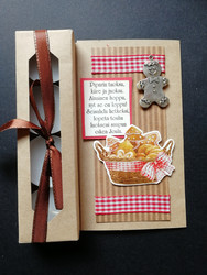 Christmas candle card with ginger bread poem