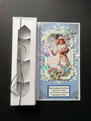 Christmas candle card with an angel
