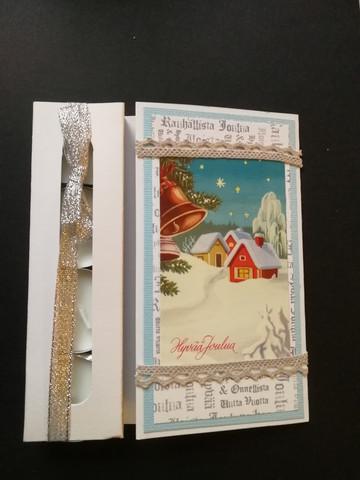 Christmas candle card wishing a peaceful Christmas
