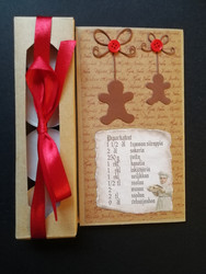 Christmas candle card with ginger bread recipe