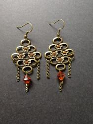 Bronze colored beehive earrings