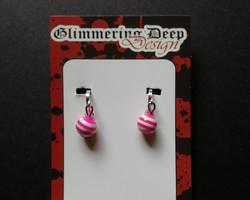 Stright clip ball earrings