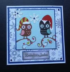 Christmas Card Owls