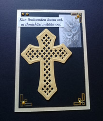 Cross and Calla grief card