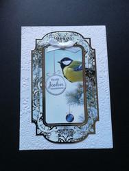 Bird christmas card