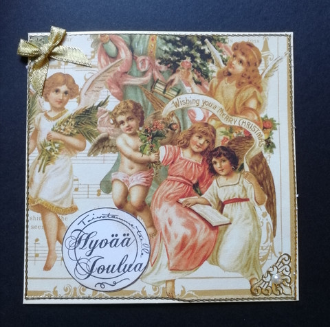 Vintage angels Christmas card