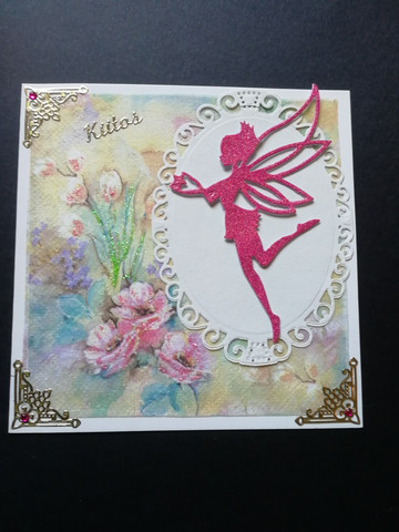 Thank you card with a fairy