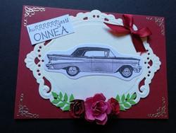 Autokortti ruusut