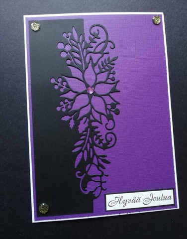Joulukortti violetti kukka
