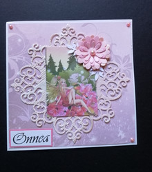 Fairy and flower card