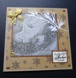 Sydämmellistä joulua -kortti