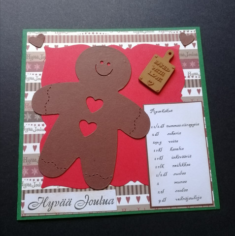 Christmas card baked with love